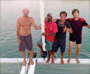Les Skippers: François, Philippe, Stéphane, Félipé