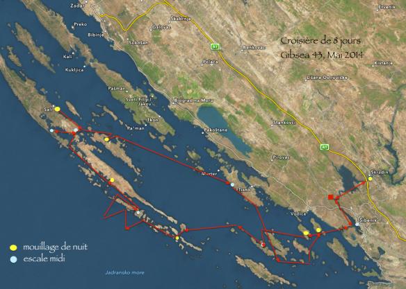 Croisière 8 jours Kornati, Croatie