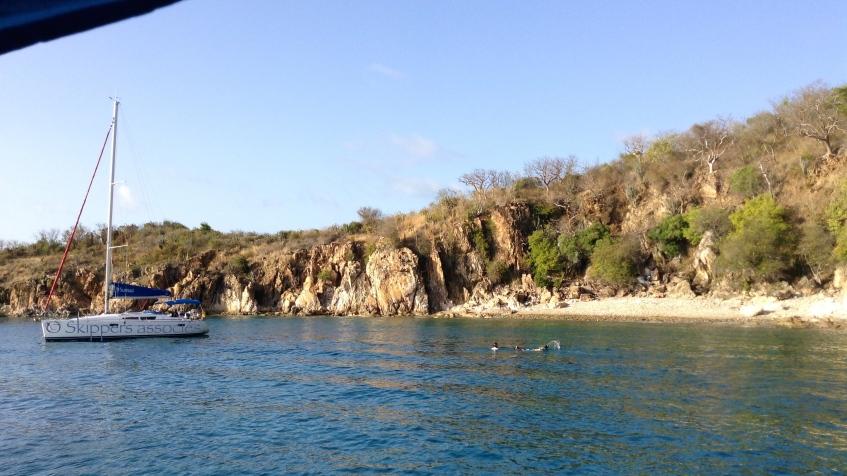 Mouillage à Norman Island