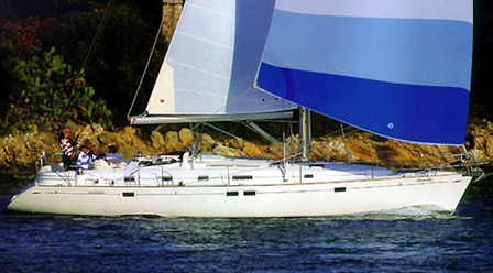 Oceanis 461 sous voile
