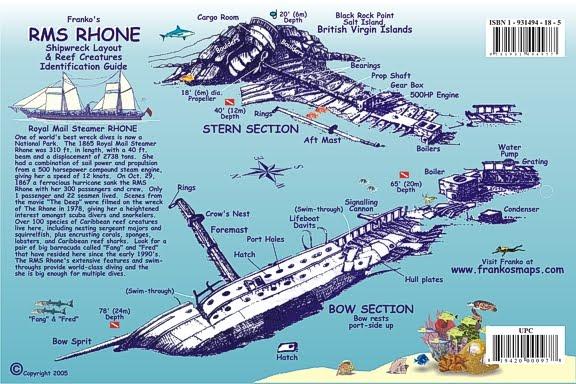 Schéma de l'épave Rhone