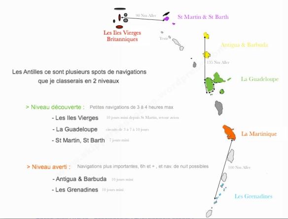 cartes des Antilles