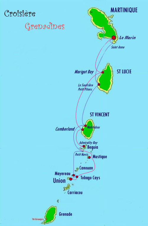 Grenadines-cartes